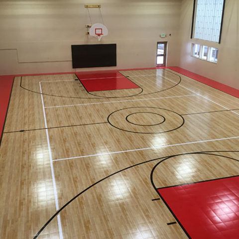 Indoor Gymnasium Athletic Maple Flooring Sport Court