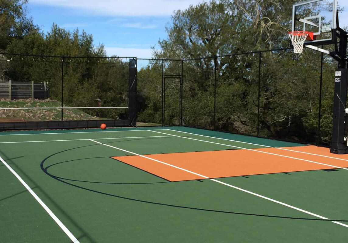 Sport Court Game Court | Outdoor Residential Basketball, Tennis, Pickleball and Volleyball | AllSport America