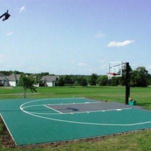 Backyard Basketball Court Sport Court and court lighting