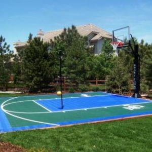 Backyard Basketball Court Sport Court with Logo