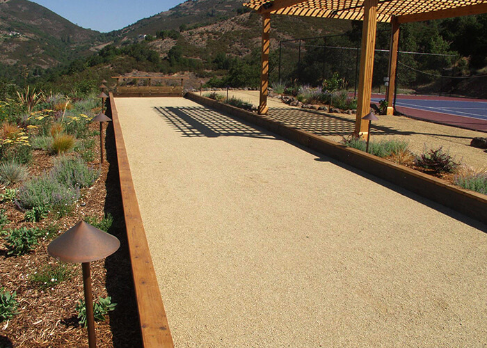 Backyard Bocce Ball Court Custom