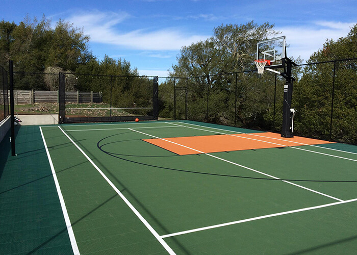 Backyard residential Sport Court Game Court Basketball and Tennis