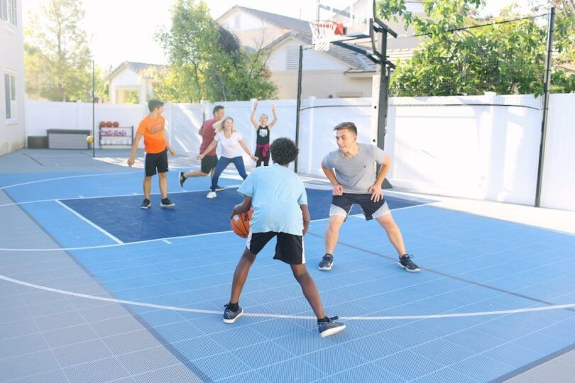 Outdoor Basketball Court for local Homeowner Association in Northern California
