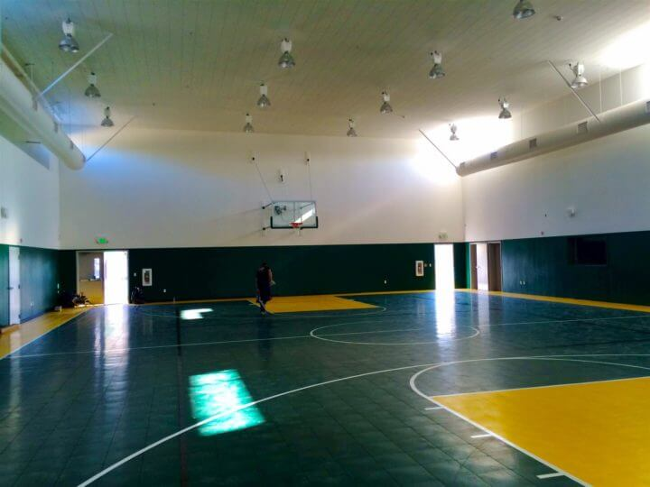 Sport Court Indoor Performance Athletic gymnasium sports surfacing. Defense. AllSport America