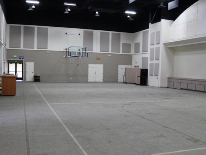 Indoor Gymnasium Before Sport Court Flooring | AllSport America