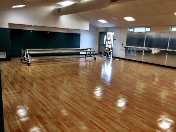 Aerobics, Pilates and Yoga Room Indoor Sport Court Maple Flooring. AllSport America