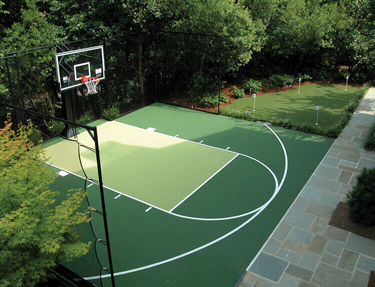 Basketball Court and Putting Green