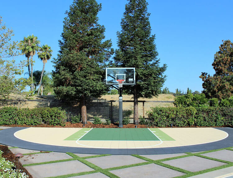 Backyard Basketball Court