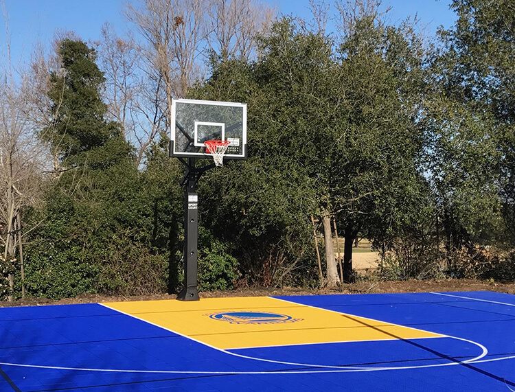 Backyard Basketball Court Sport Court Golden State Warriors. AllSport America