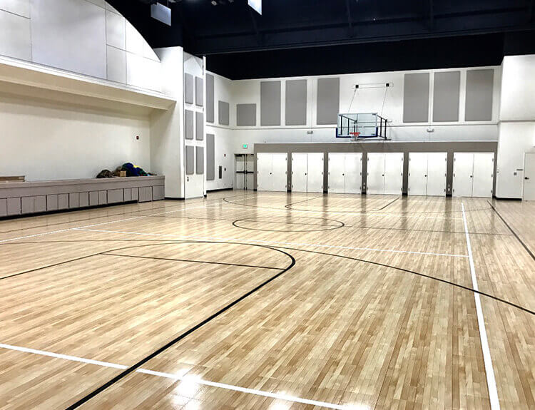 Indoor Basketball Court Maple