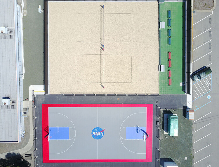 NASA Basketball Court
