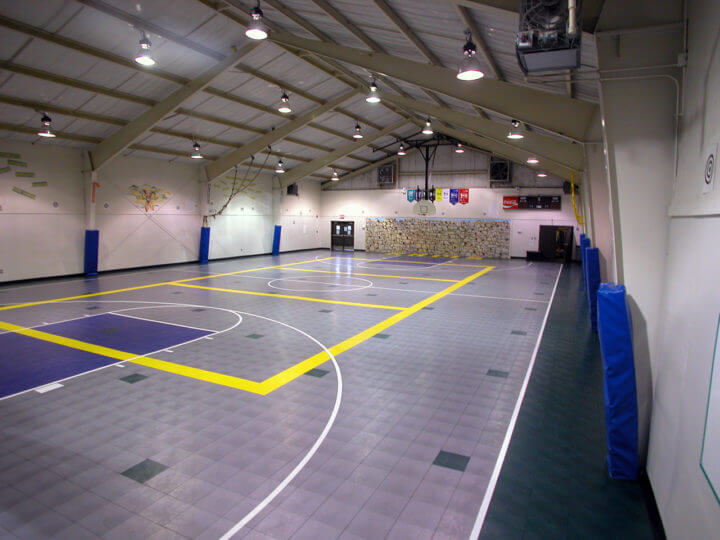 Sport Court Indoor Multi Purpose Room Gymnasium Athletic Maple Flooring. AllSport America