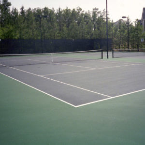 Before & After Sport Court Tennis Court Resurfacing