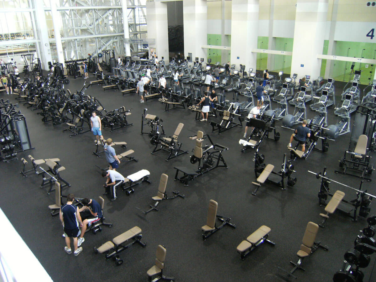 Indoor weight room flooring systems resilient gym workout surfaces