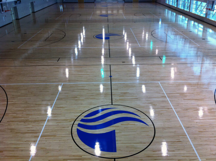 Wood Floor GSU Sport Court. Allsport America