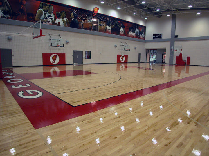 Wood Floor UGA Ladies Gym AllSport America