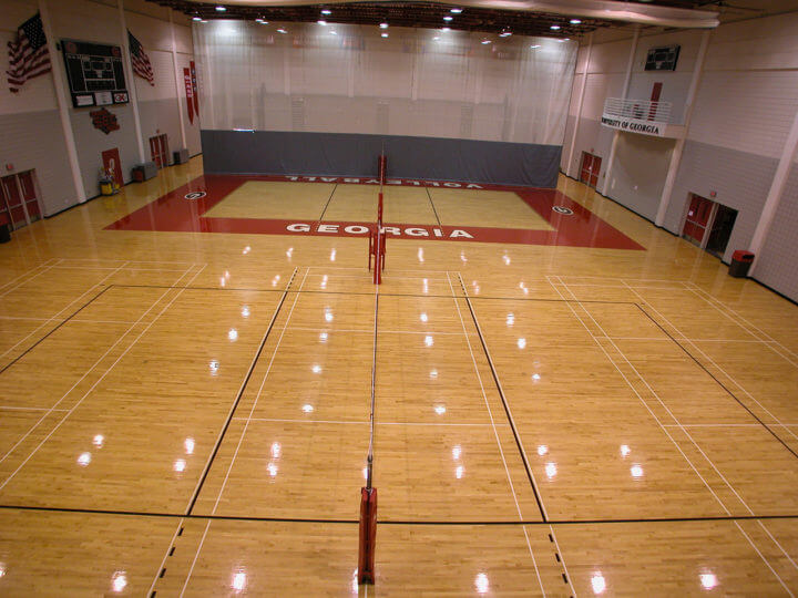 Wood Floor UGA Volleyball AllSport America